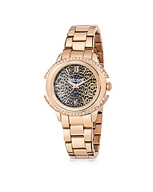Just Decor Rose Gold Tone Stainless Steel Women's Watch - Just Cavalli