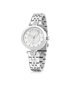 Just Florence Silver Tone Stainless Steel Women's Watch - Just Cavalli