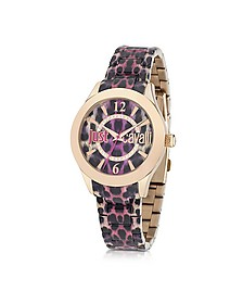 Just Havana Pink Animal Print Women's Watch - Just Cavalli