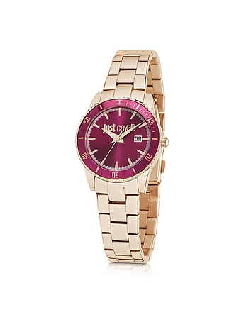 Just Cavalli - Just In Time Rose Gold Tone Stainless Steel Women's Watches w/Pink Dial