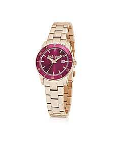 Just In Time Rose Gold Tone Stainless Steel Women's Watches w/Pink Dial - Just Cavalli