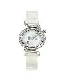 Sin 2H Silver Tone Dial Women's Watch - Just Cavalli
