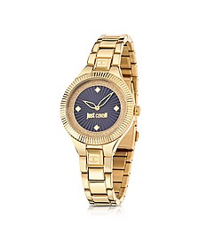 Just Indie Gold Tone Stainless Steel Women's Watch - Just Cavalli