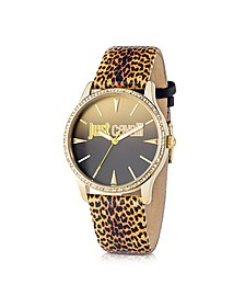 Just Paradise Yellow Animal Print Women's Watch - Just Cavalli