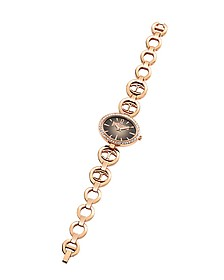 Just Icon Rose Gold Tone Stainless Steel Women's Watch - Just Cavalli