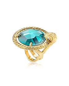 Just Queen Crystal Golden Ring - Just Cavalli