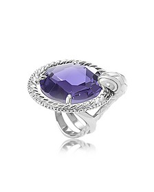 Just Queen Crystal Silvertone Ring - Just Cavalli