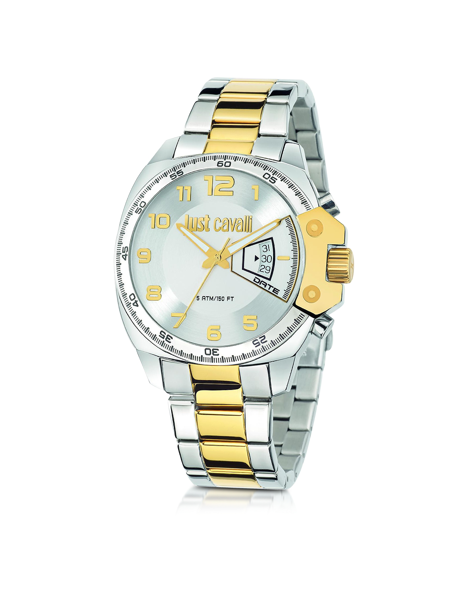 Just Cavalli Men's Watches, Just Escape Two Tone Stainless Steel Men's Watch