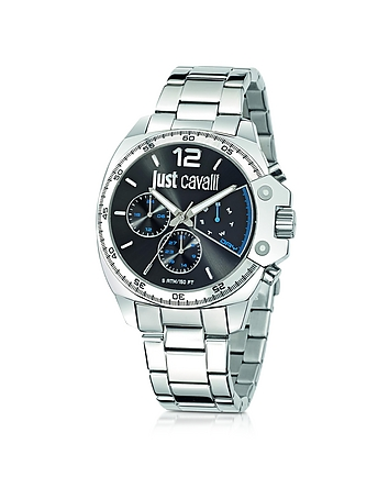 Just Cavalli - Just Escape Silver Tone Stainless Steel Men's Watch
