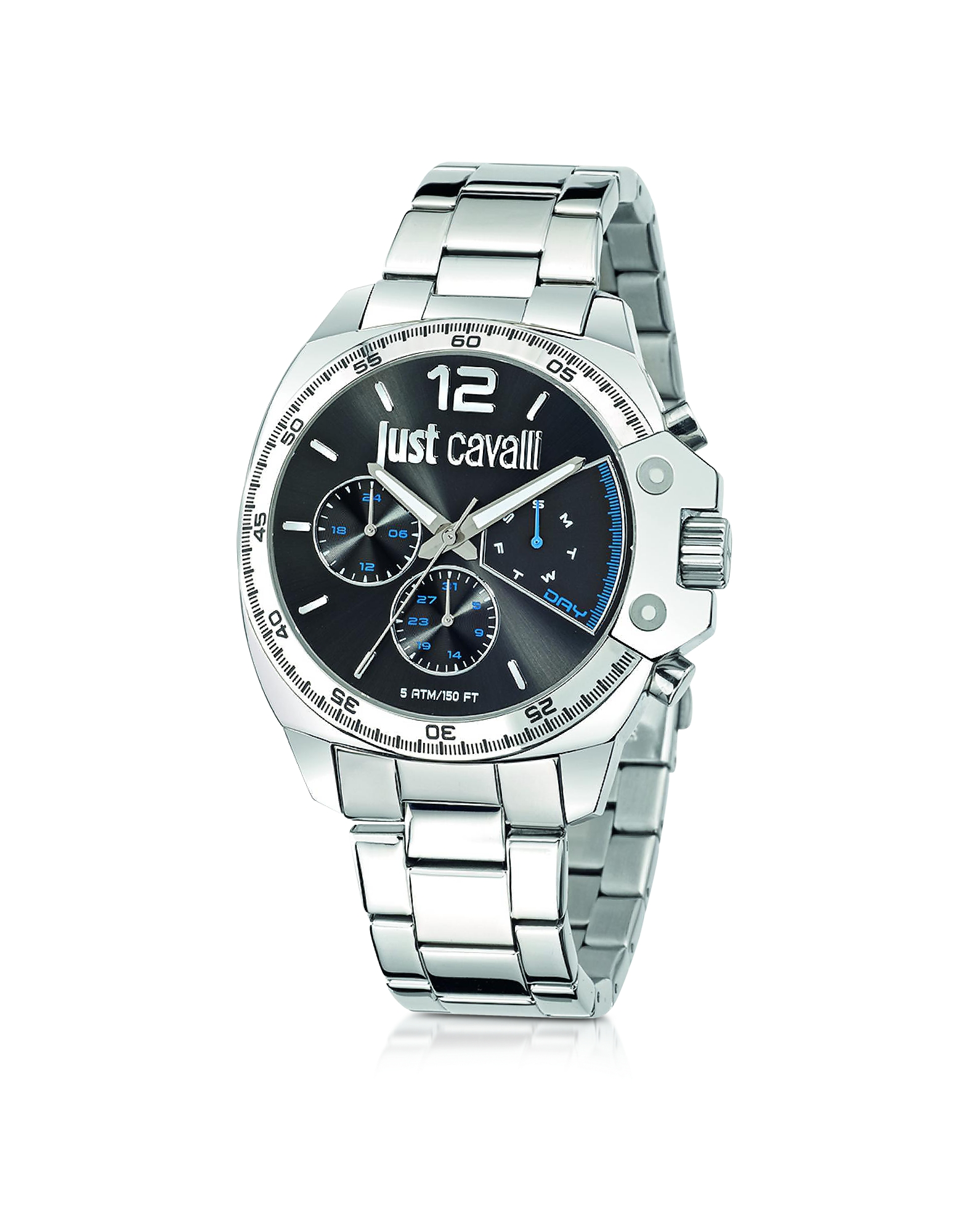 Just Cavalli Men's Watches, Just Escape Silver Tone Stainless Steel Men's Watch
