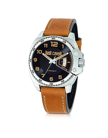 Just Cavalli - Just Escape Brown Strap Men's Watch