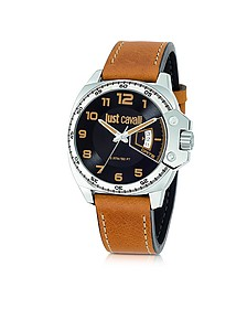 Just Escape Brown Strap Men's Watch