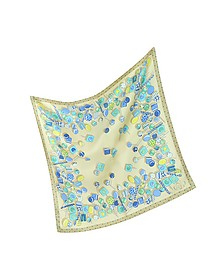 Lollipop Twill Silk Square Scarf - Julia Cocco'