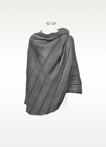 Eva - Pleated Wool Cape - Julia Cocco'
