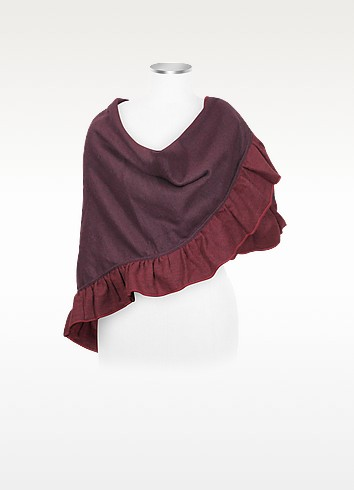 Melissa - Ruffled Wool Blend Wrap - Julia Cocco'