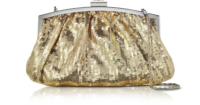 Micro Sequins Clutch w/Chain Strap - Julia Cocco'