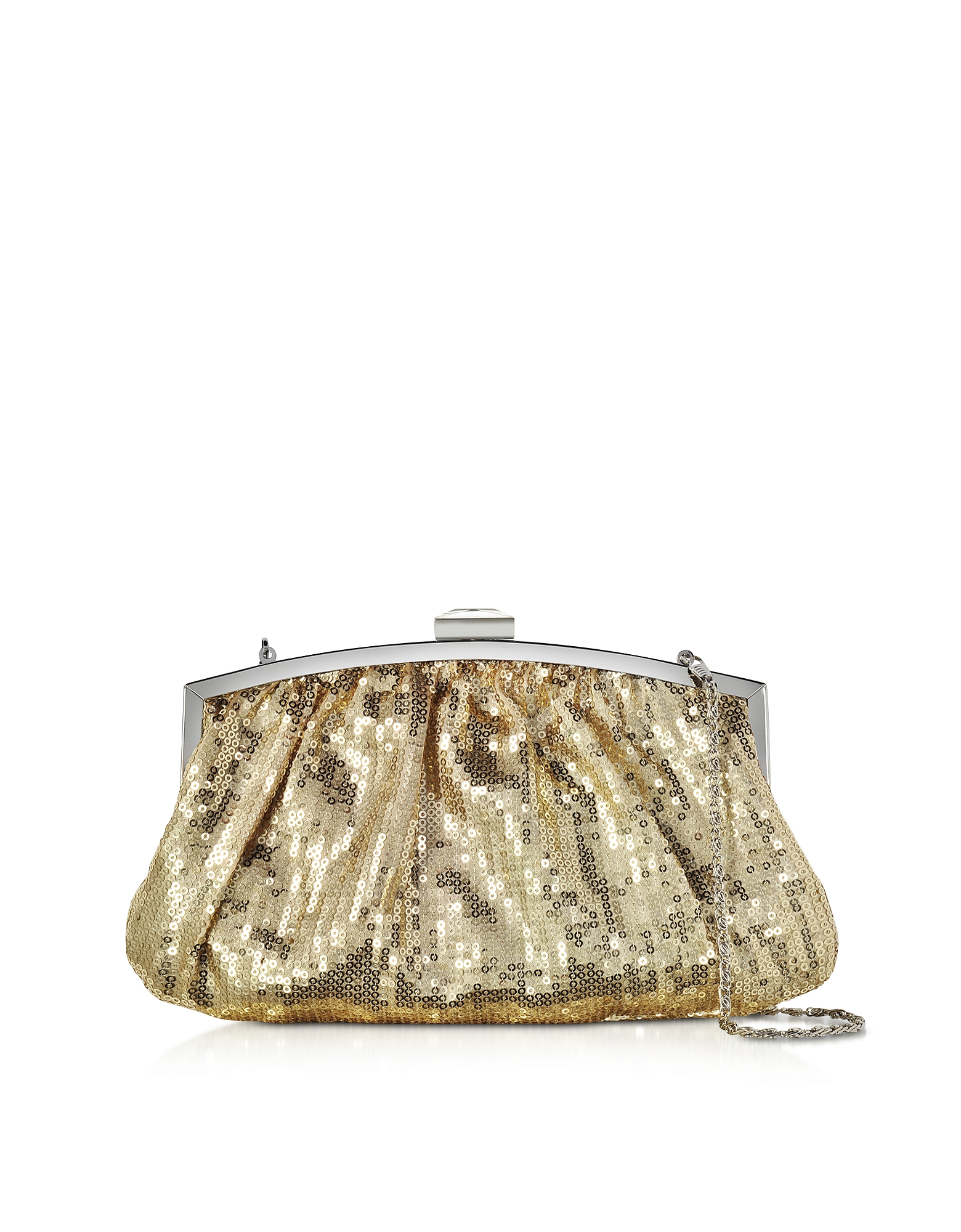 Julia Cocco' Handbags, Micro Sequins Clutch w/Chain Strap