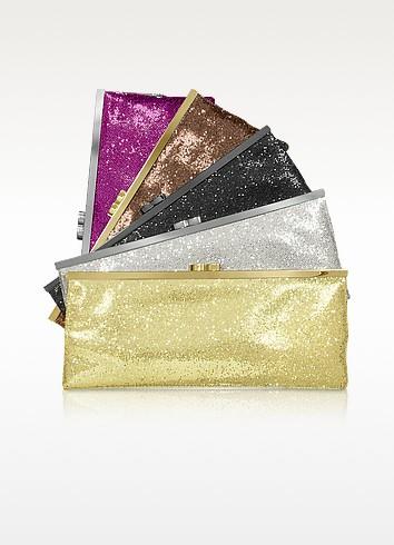 Sequin Kisslock Envelope Clutch w/Chain Strap - Julia Cocco'