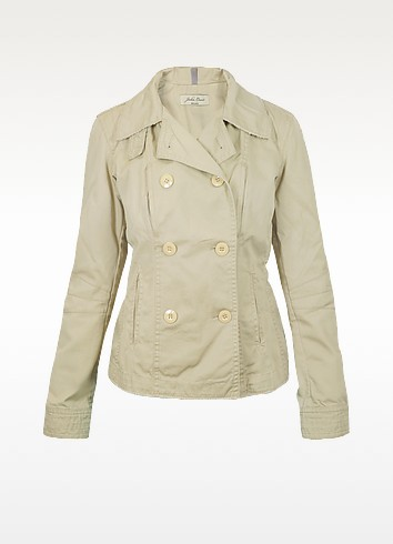 Beige Double Breast Jacket - Julia Cocco'