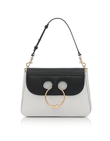 JW Anderson Medium Pierce Handtasche in black white