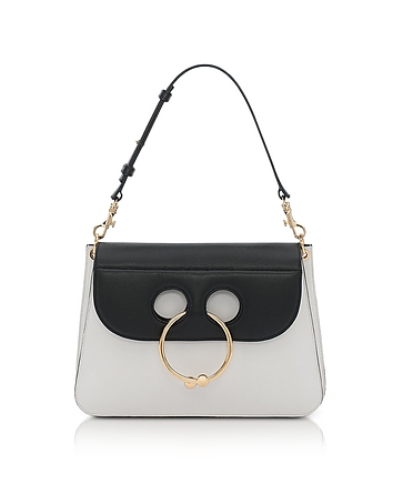 J.W. Anderson - Black & White Medium Pierce Bag