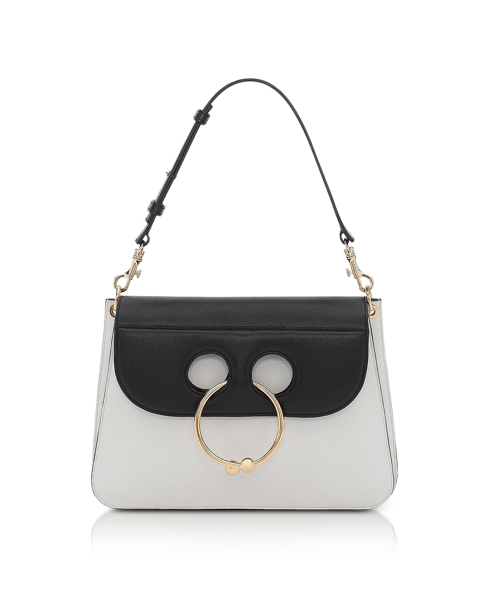 JW Anderson Handbags, Black & White Medium Pierce Bag