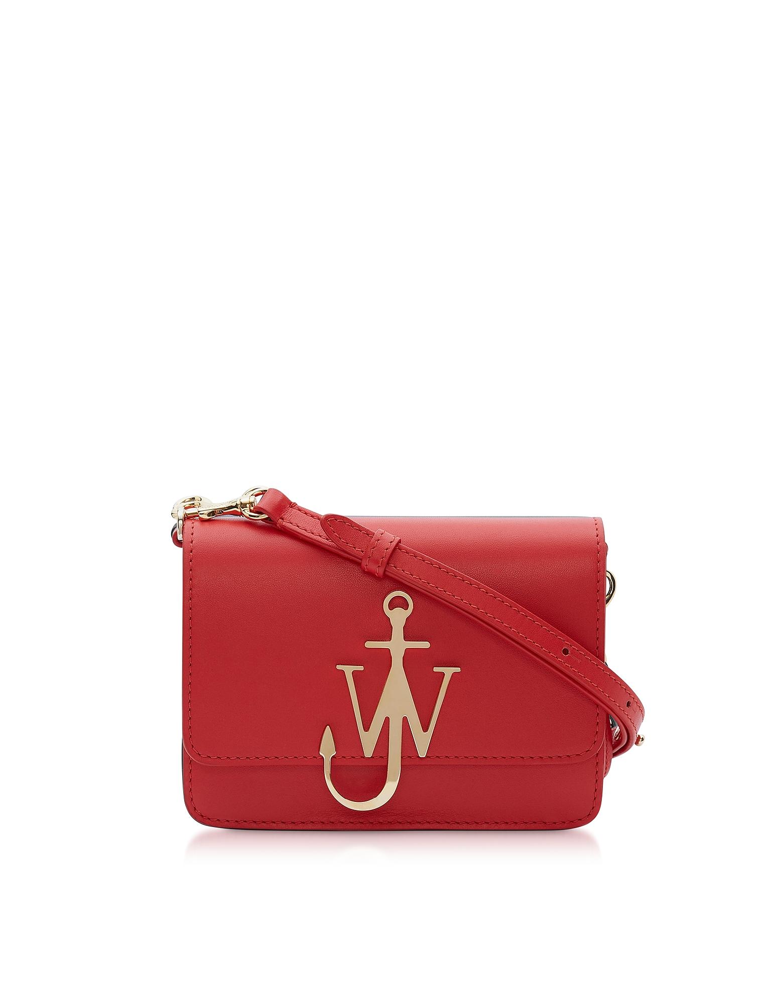 New Mini Logo Purse W/Shoulder Strap in Scarlet