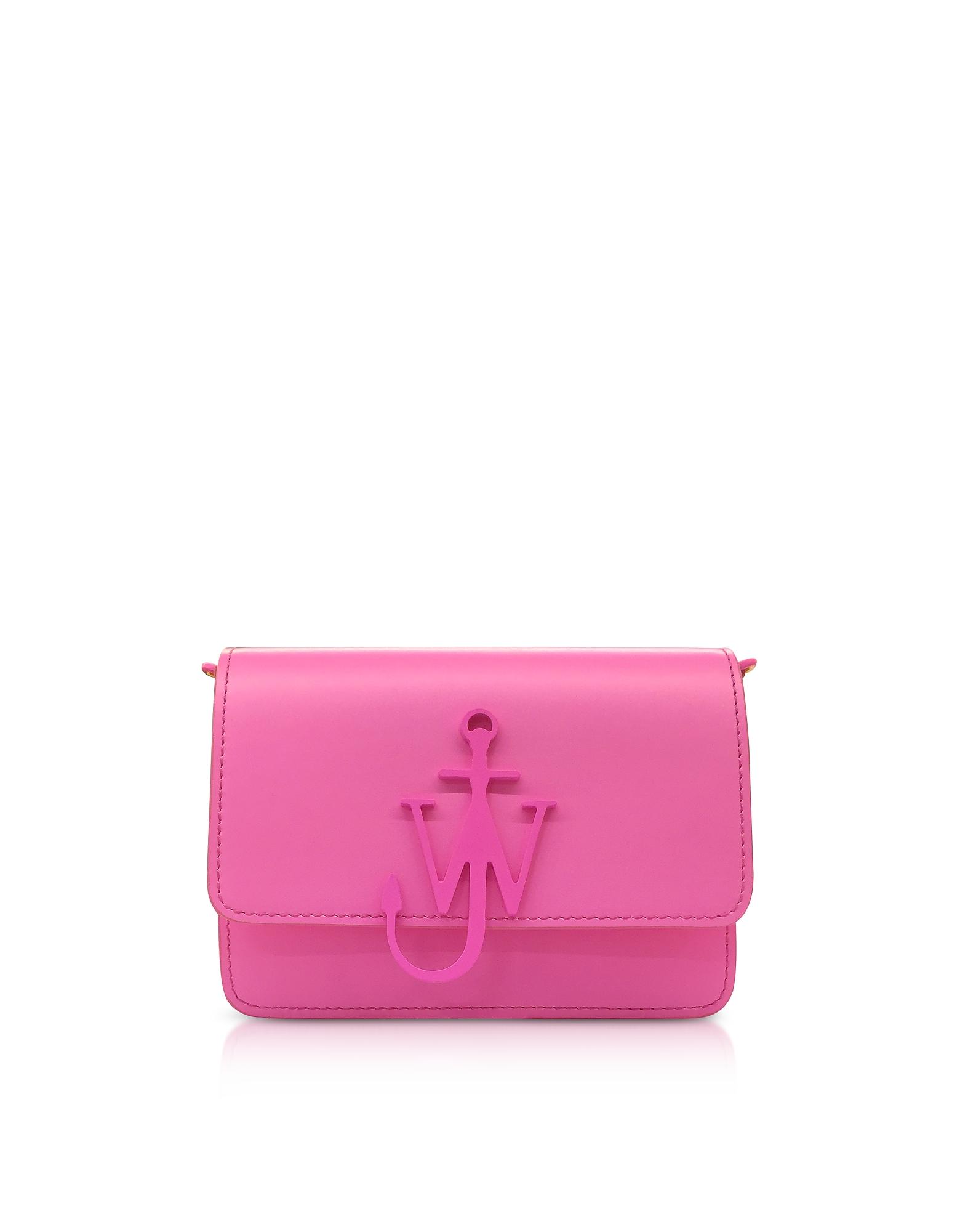 JW Anderson Handbags, New Mini Logo Purse w/Shoulder Strap