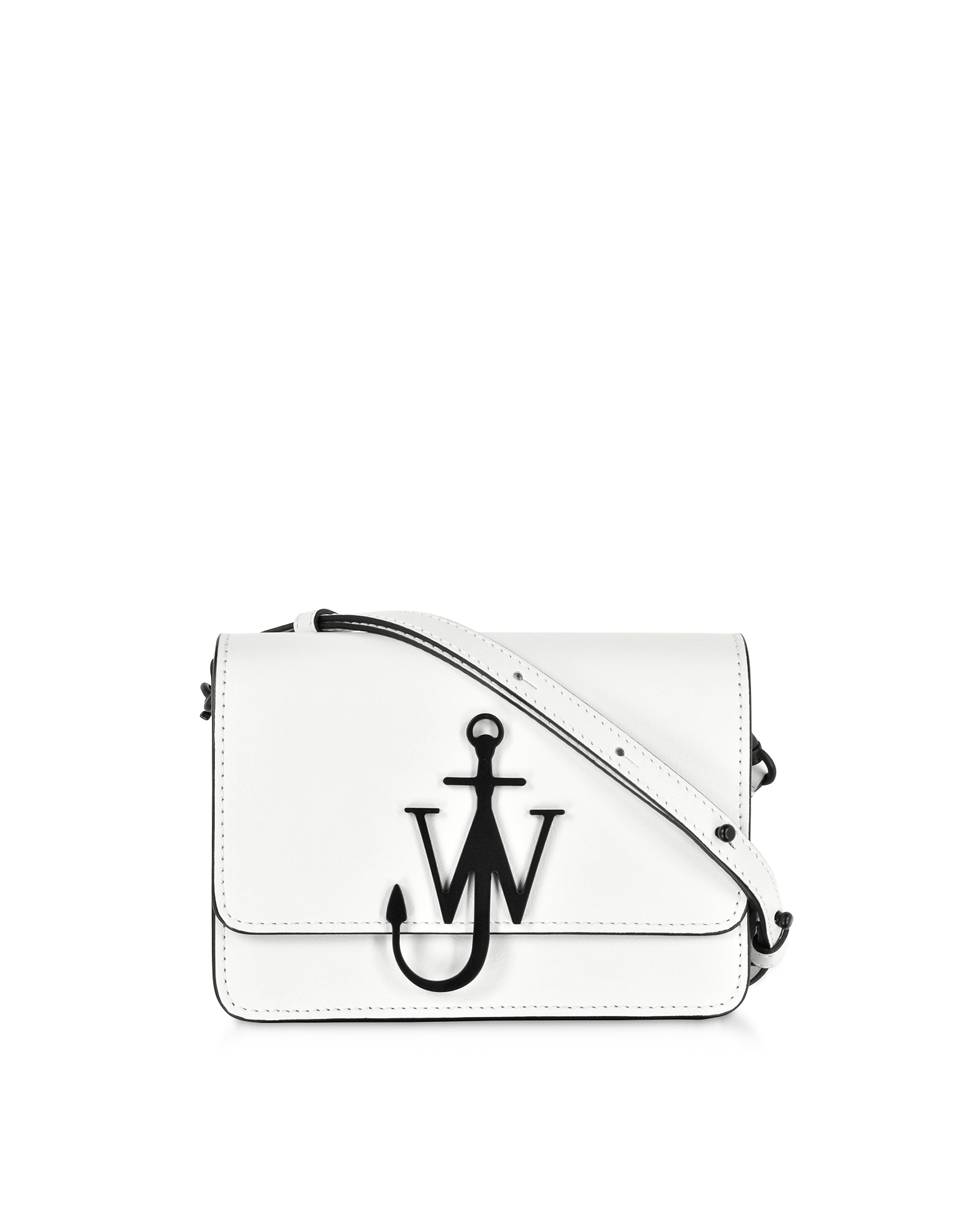 JW Anderson Designer Handbags, White and Black New Mini Logo Purse w/Shoulder Strap (Luggage & Bags) photo