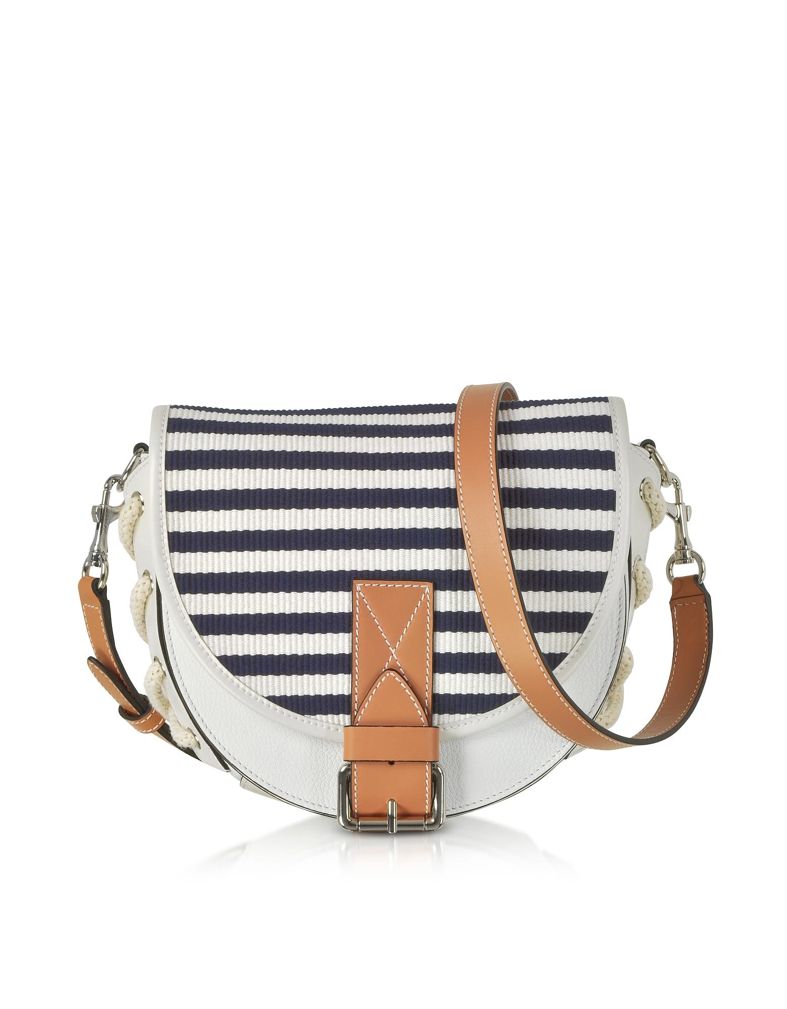 JW Anderson Handbags, Small Bike Striped Canvas Shoulder Bag