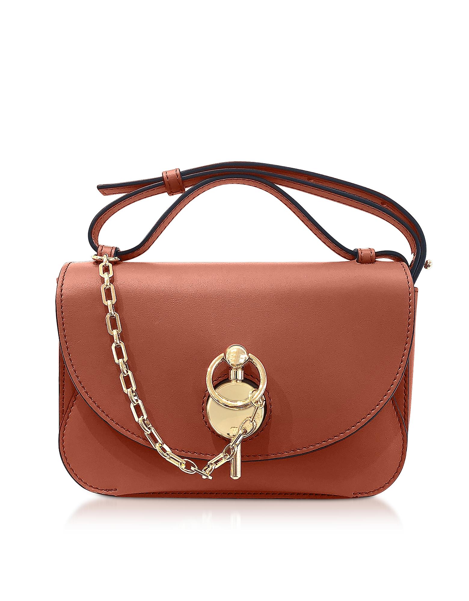 Ginger Midi Keyts Crossbody Bag, Brown