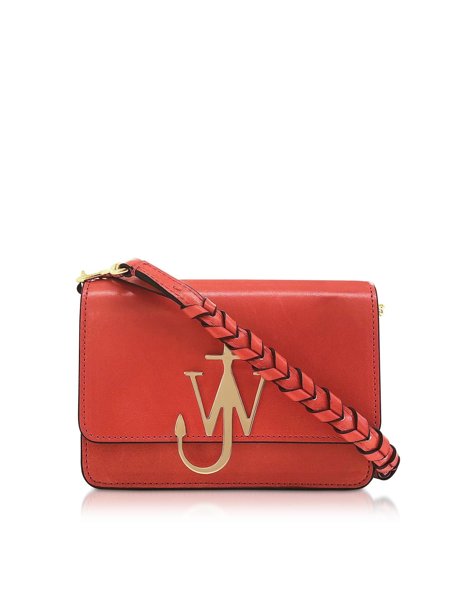 Anchor Logo Bag w/Braided Strap, Candy pink