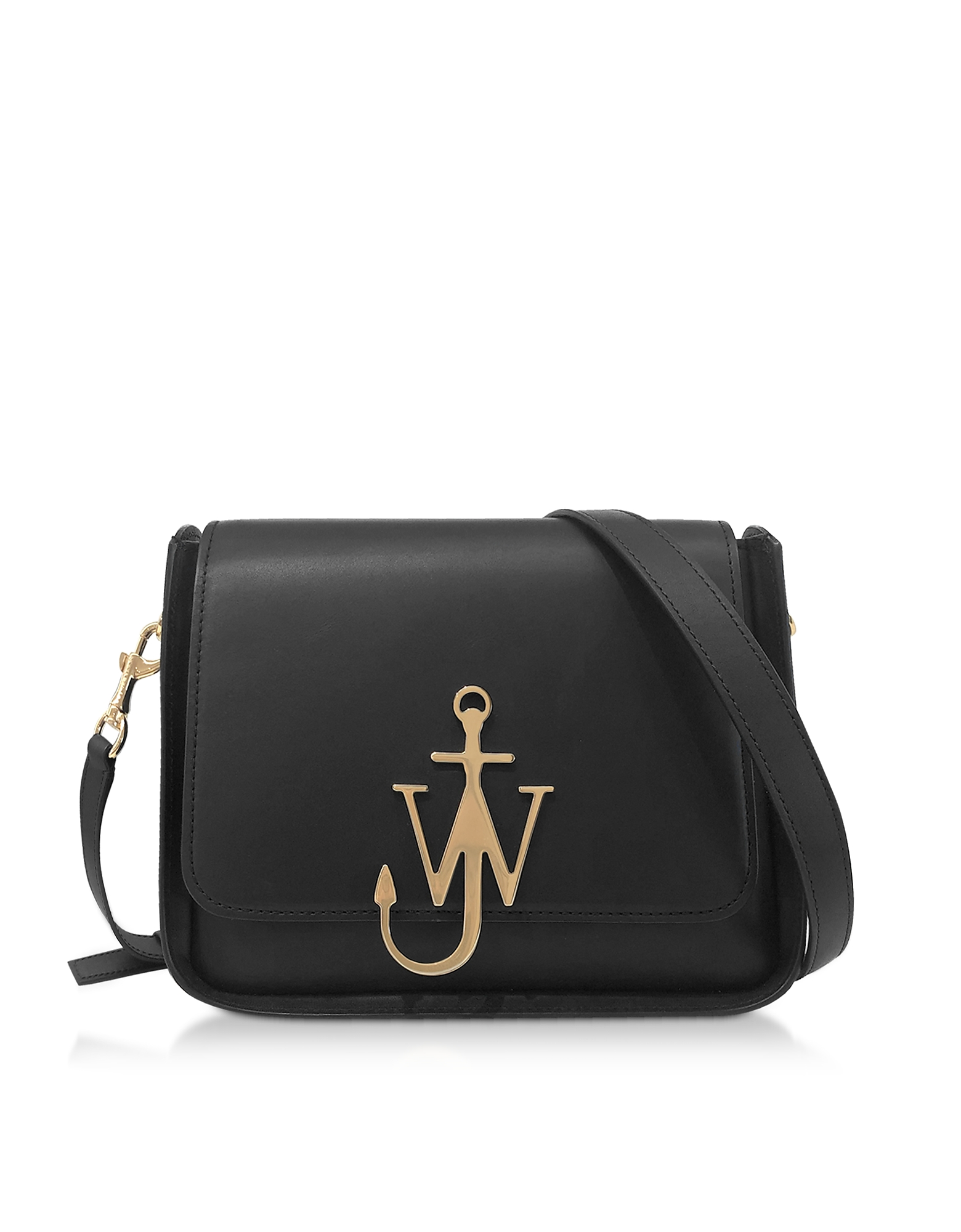 Black Anchor Logo Box Bag