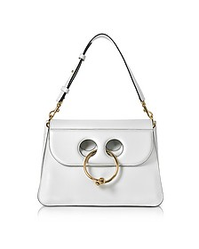 White Leather Medium Pierce Bag - J.W. Anderson