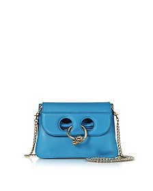 Cerulean Blue Leather Mini Pierce Bag - J.W. Anderson