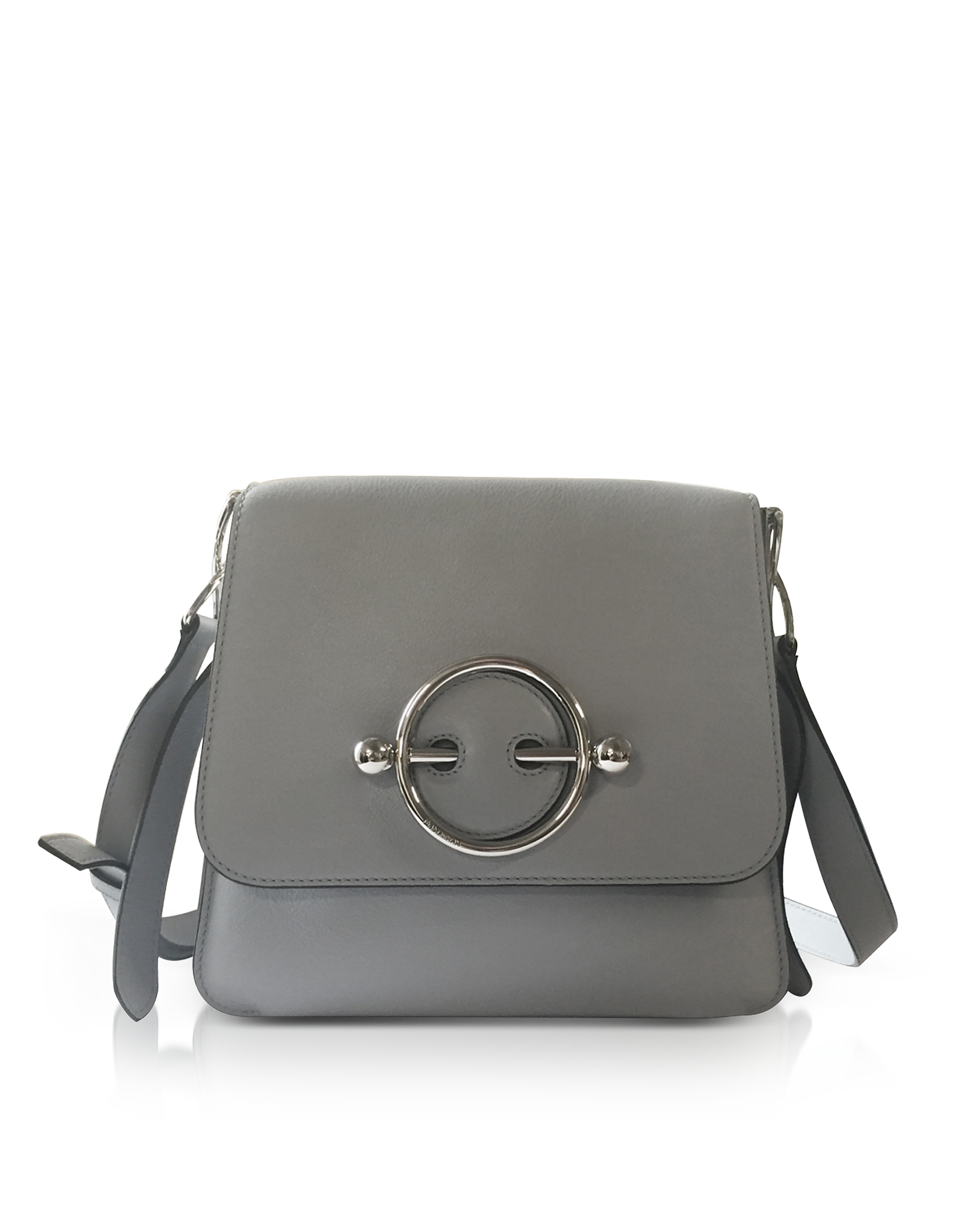 Ice Blue Leather Disc Bag