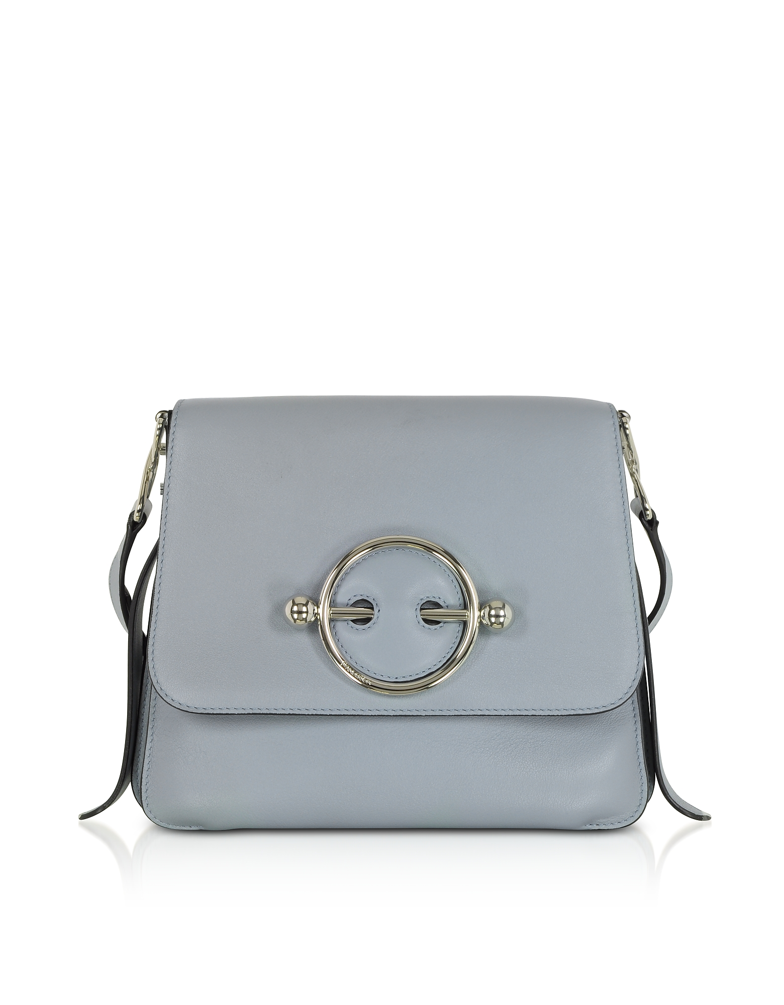 JW Anderson Handbags, Ice Blue Leather Disc Bag
