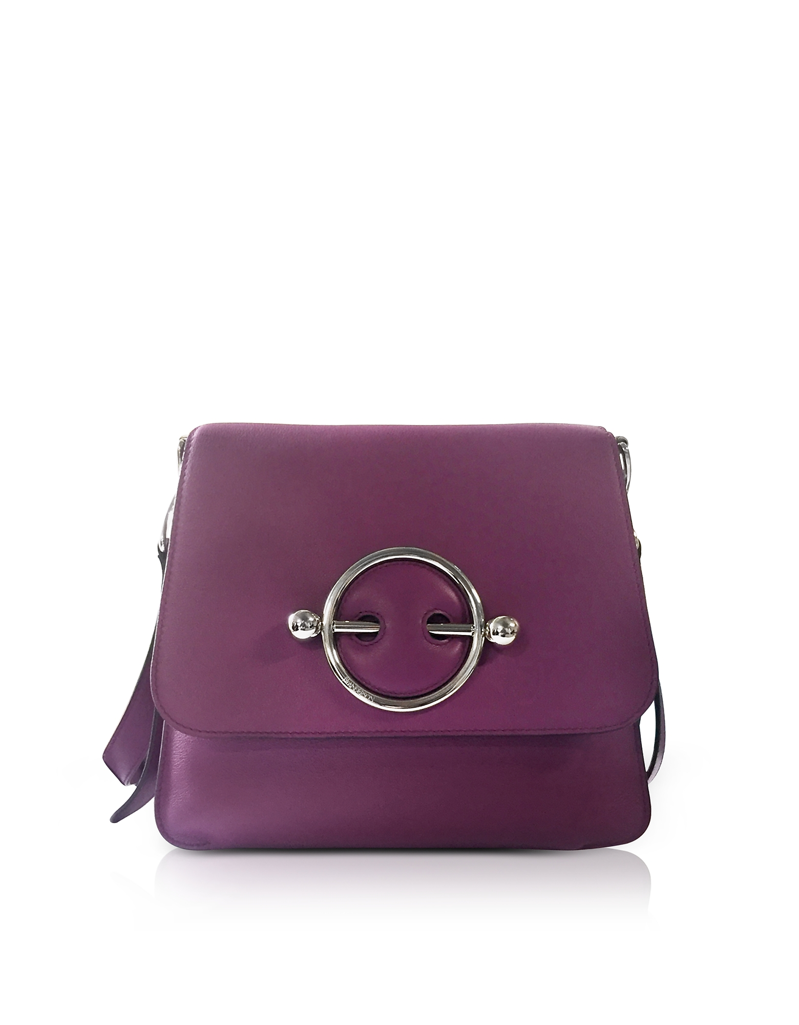 Purple Leather Disc Bag