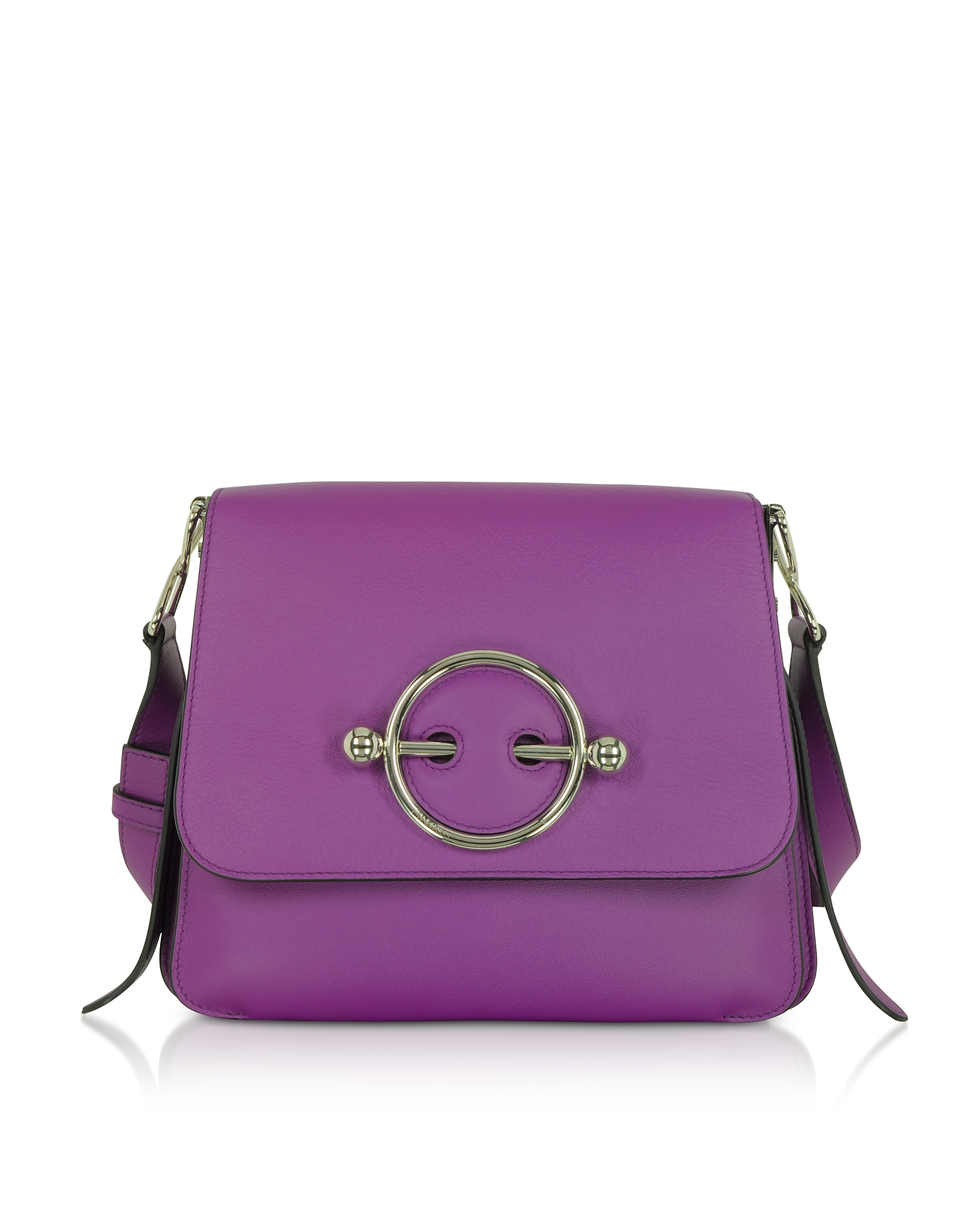 Disc Bag Purple in Pelle