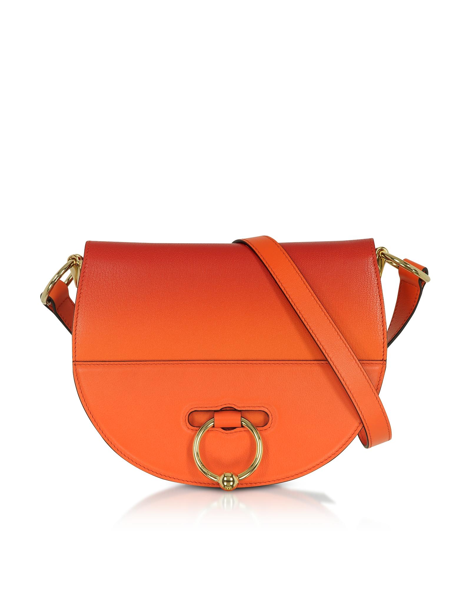 Latch Bag Borsa in Pelle Tangerine con Tracolla