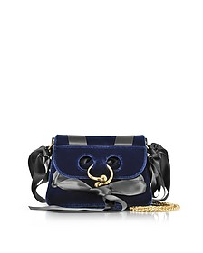 Midnight Blue Mini Pierce Velvet Bag - J.W. Anderson