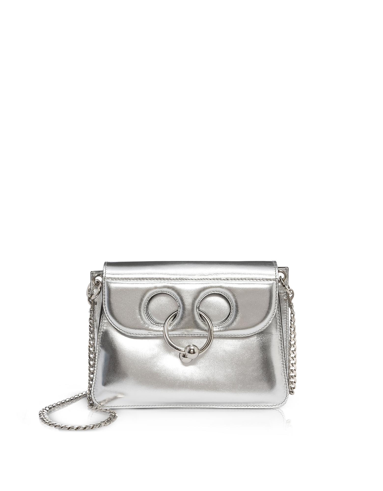 J.W. Anderson Handbags, Silver Leather Mini Pierce Bag