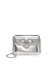 Mini Pierce Handtasche aus Leder in silber - J.W. Anderson