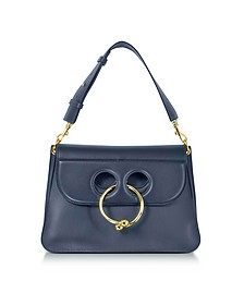 Navy Leather Medium Pierce Bag - J.W. Anderson