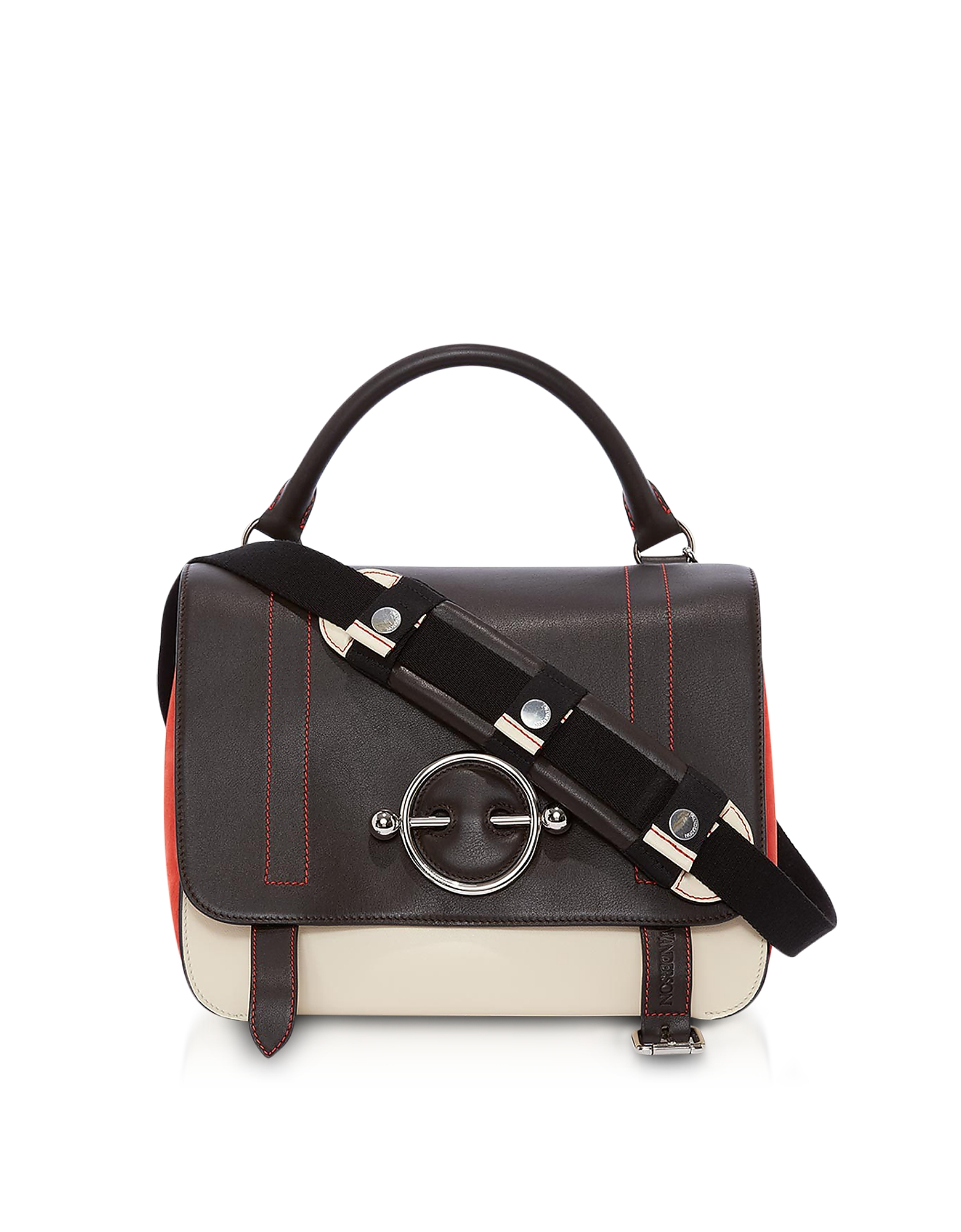 JW Anderson Handbags, Color Block Disc Satchel Bag