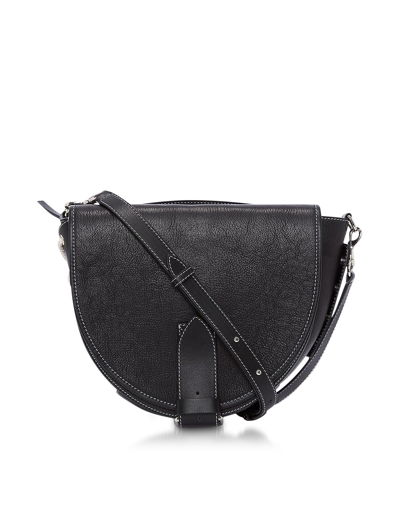 Genuine Leather Bike Bag w/Shoulder Strap
