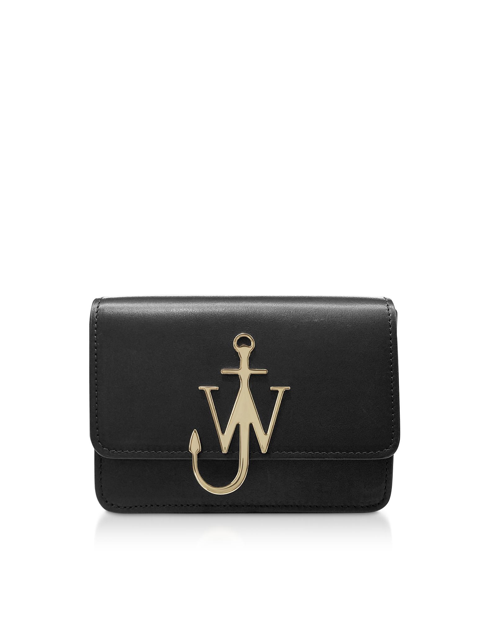 JW ANDERSON | JW Anderson Designer Handbags, Black Logo Bag | Goxip