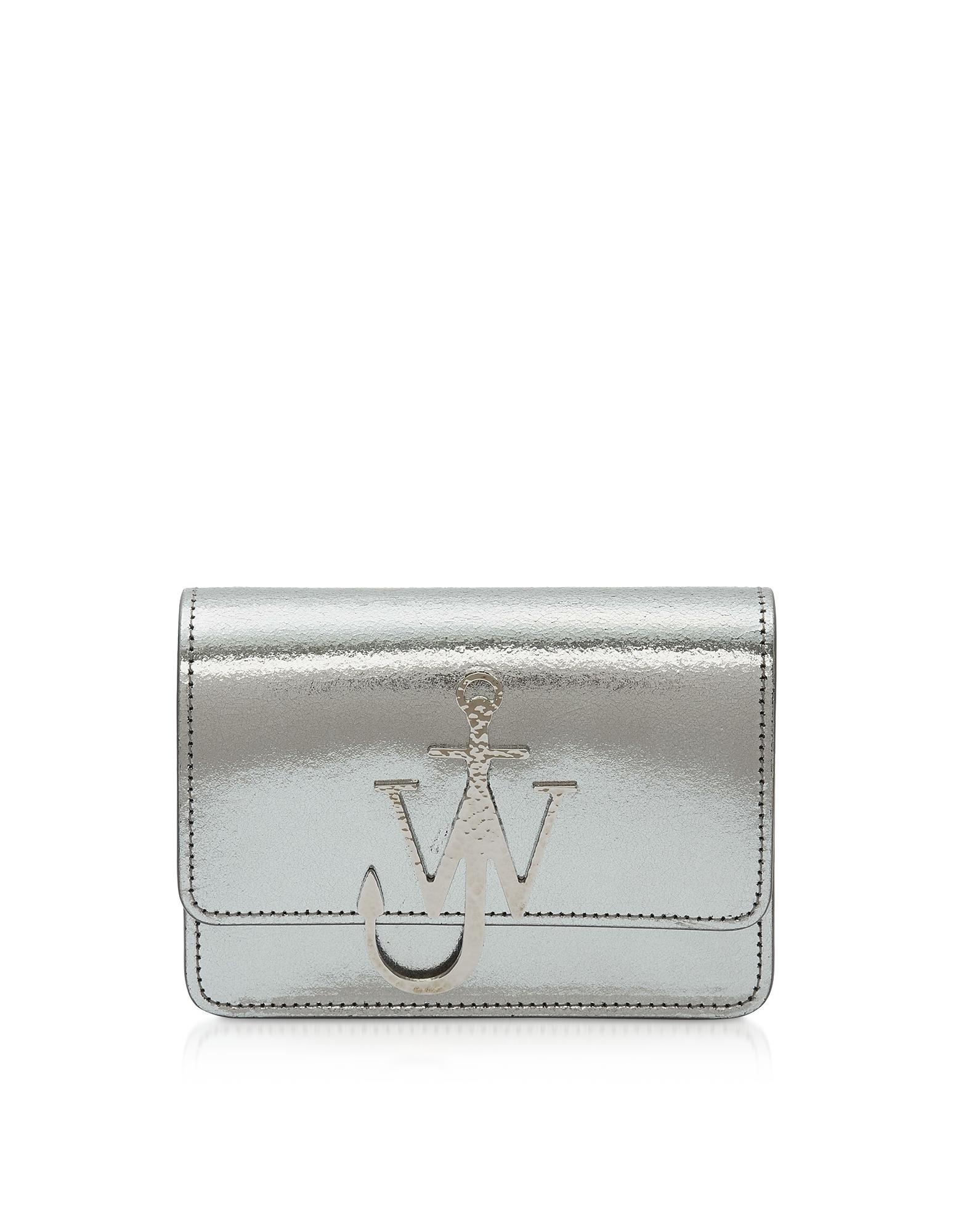 JW ANDERSON   JW Anderson Designer Handbags, Metallic Logo Bag   Goxip