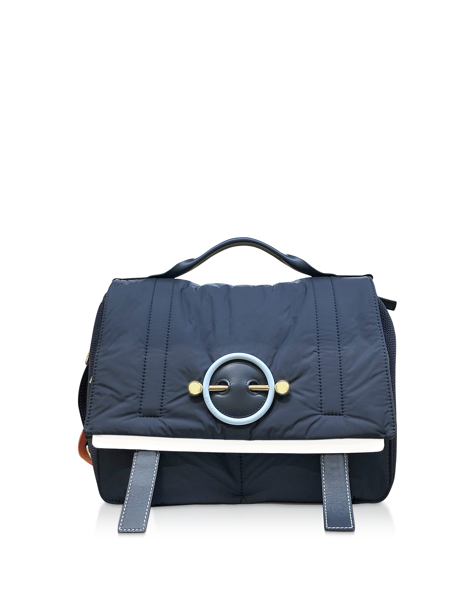 JW Anderson Designer Handbags, Navy Blue Nylon Satchel bag