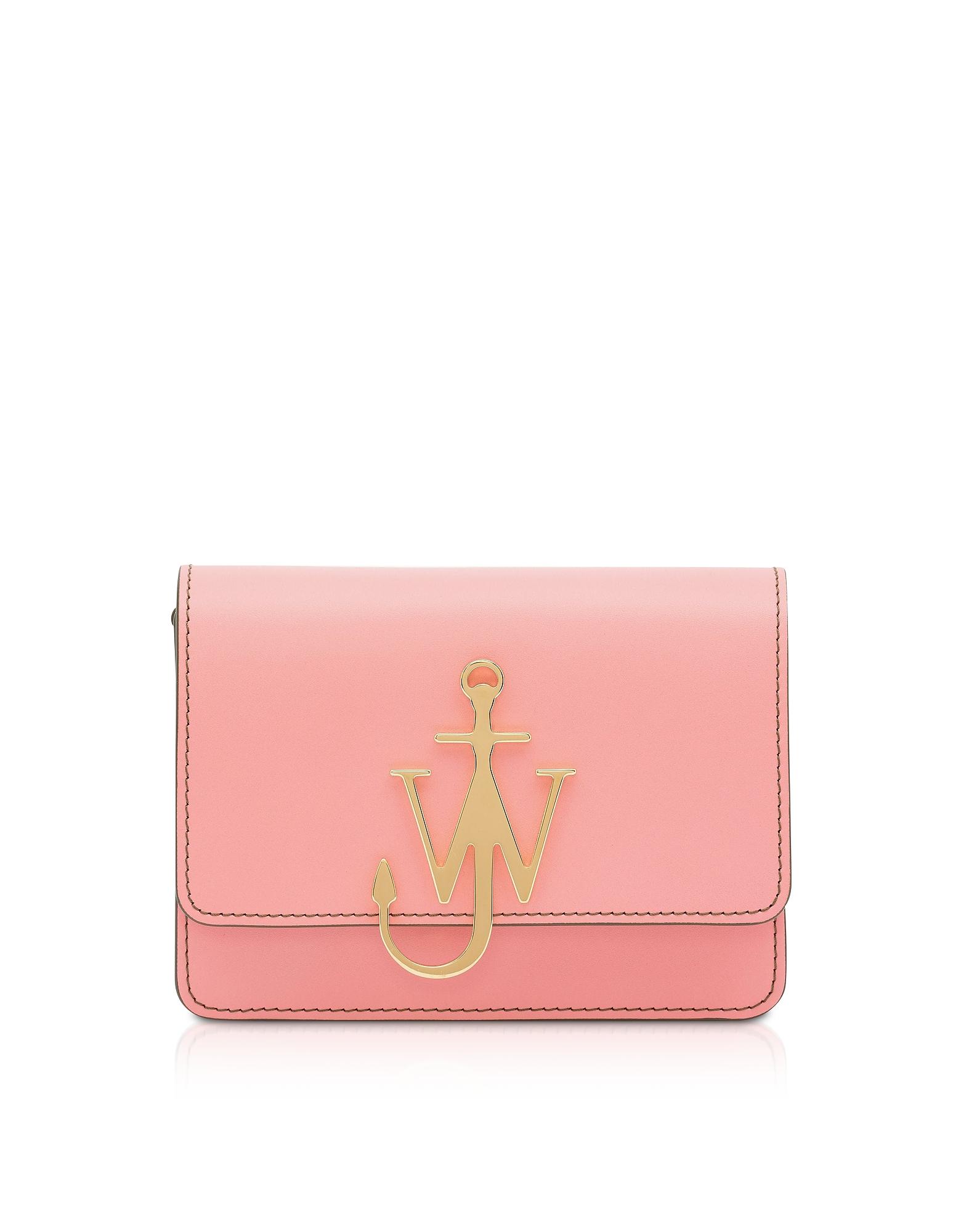 Anchor Logo Crossbody Bag, Pink